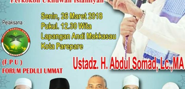 Besok, Ustadz Abdul Somad Ceramah di Lapangan Andi Makkasau Parepare