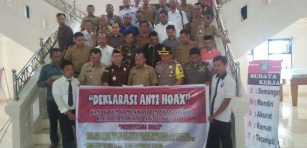 Ajak Masyarakat dan Pemerintah, Polres Pasangkayu Deklarasi Anti Hoax